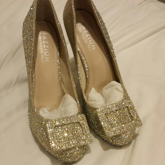 ae916a6813c BN Massive Bling Pazzion Heels (Good For Wedding) Size 37