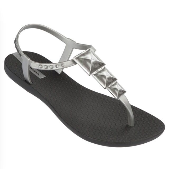 43d1d3f4a0d5 Brand New Ipanema Thong Sandals In Black Silver