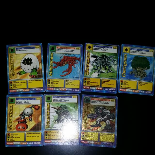 Digimon Cards. not much but yah