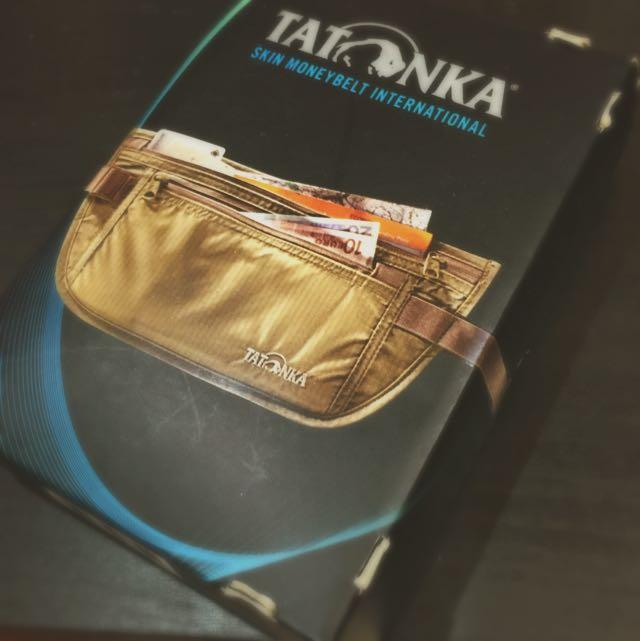 德國TATONKA 出國必備!貼身錢包/腰包 TA2846 -鵝黃色