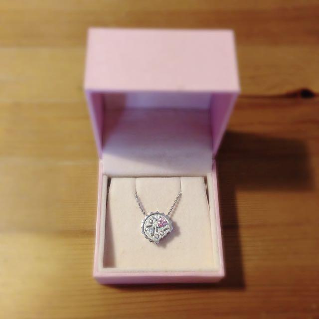 Yume 乙葉夢 粉水晶 白水晶 巧克力派 925 銀飾 項鍊