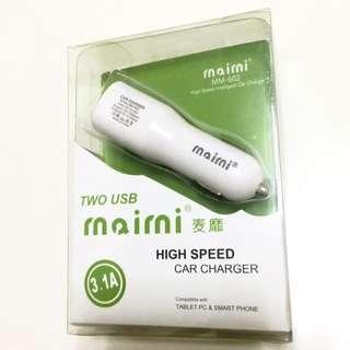 雙USB 高速車充 2.1A