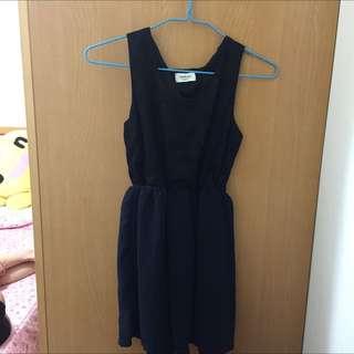 Queen Shop 氣質黑色點點洋裝