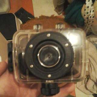 skate  camera with mount and case