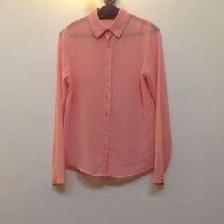 Pink Blush Button Up Blouse
