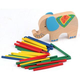Wooden Elephant Balancing Toy