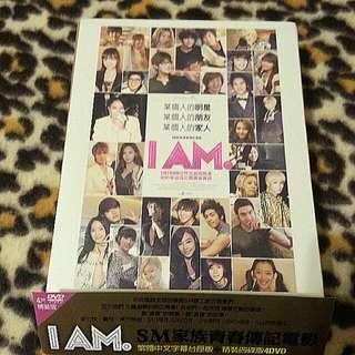 I AM精裝四碟版DVD SMTOWN 安七炫 寶兒 東方神起 SUPER JUNIOR 少女時代 SHINee f(x)