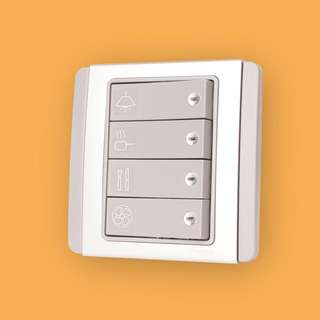 Silver Wall Light Switch Labels