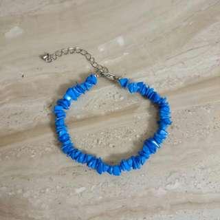 🆕石頭手鍊-天藍色