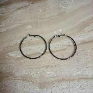 🆕經典大圓耳環-鐵灰