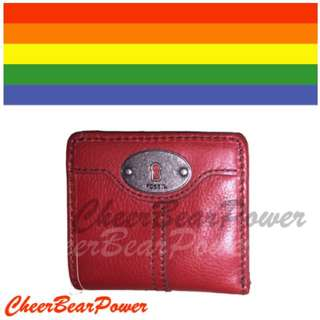 Brand New Fossil Wallet - Vibrant Red