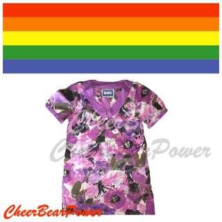 Brand New Stylish Flora Purple Blouse
