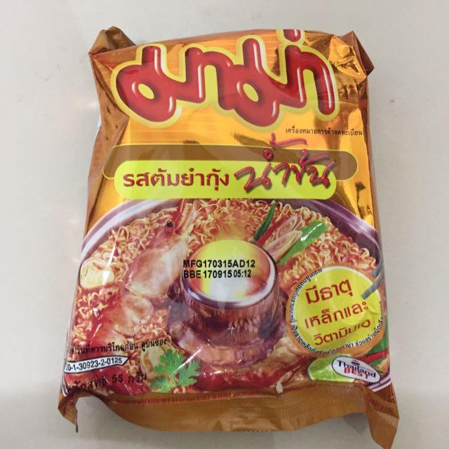 泰國限定酸辣海鮮泡麵