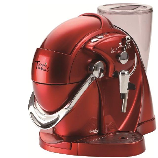 Caffe Tiziano義式膠囊咖啡機(TSK-1136R(法拉利紅))