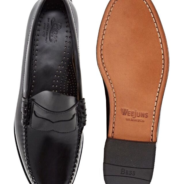 10d6f6c58ca GH Bass Larson Penny Loafers - Black UK 9