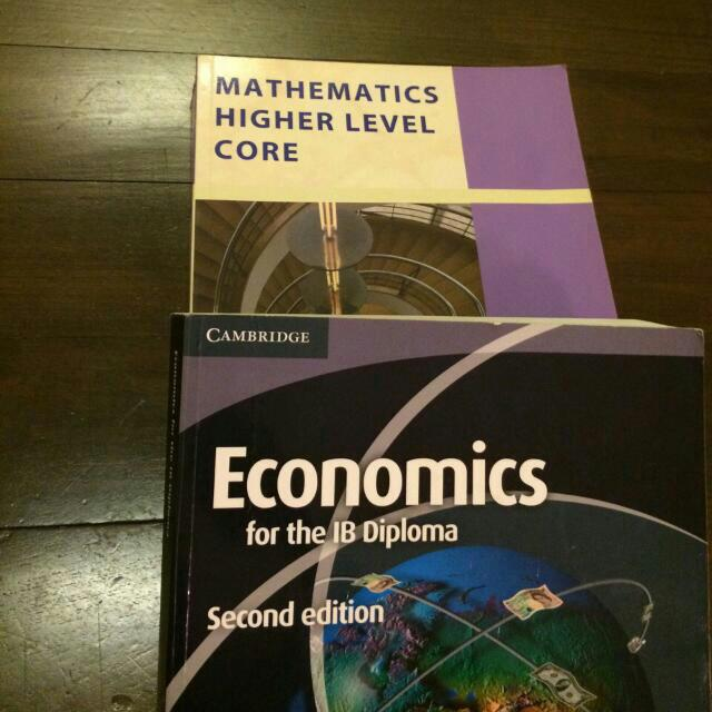 IB maths And Economics Textbooks