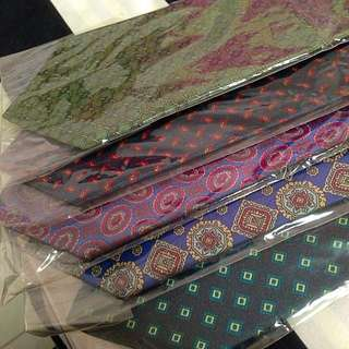 Diamond Silk Ties. Brand New.