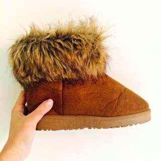 毛毛雪靴(棕)
