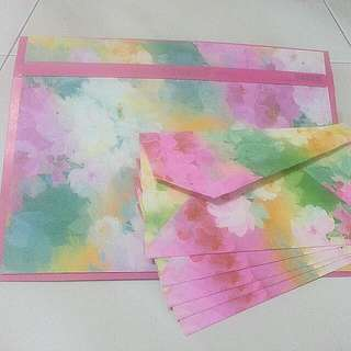 Flower Envelope With Letters