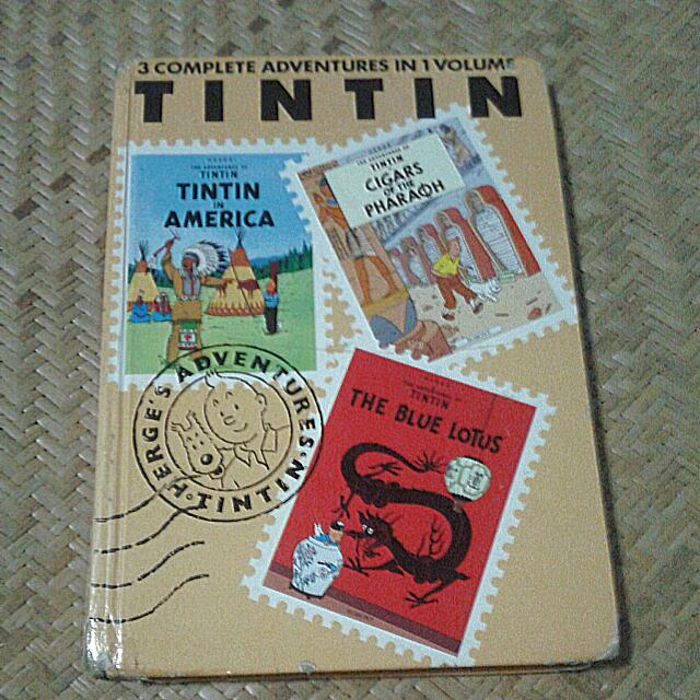 3 Complete Adventures Of Tintin In 1 Volume