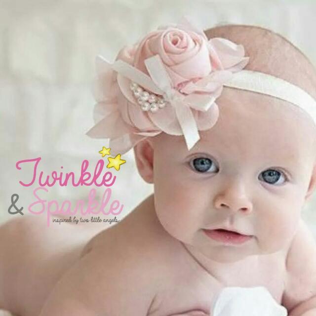 Elastic Rose & Pearl Headband
