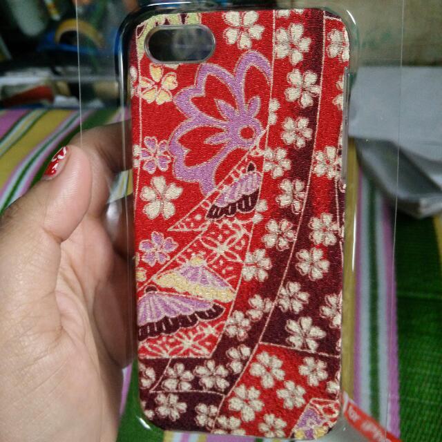 iPhone 5s Kimono Fabric Case (red)