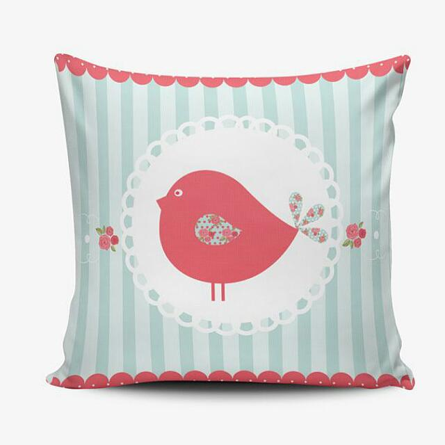 Love Bird Cushion Pillow Cover - Sarung Bantal Shabby Chic Murah - Hadiah Ulang Tahun Wedding Gift