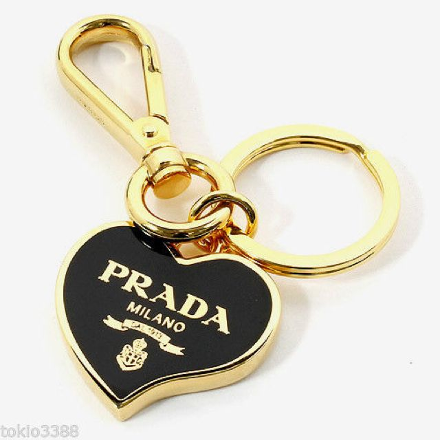 Prada Black Heart Keychain Can Be Used For Bag Charm 100 Auth New 1ap398 Luxury On Carou