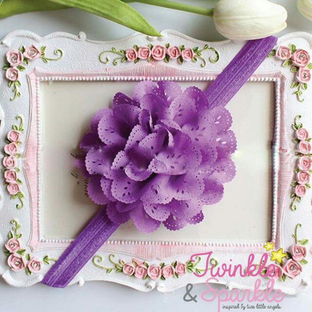 Soft Lace Flower Elastic Headband (PURPLE)