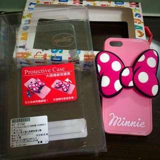 9.9成新 迪士尼I Phone 5/5S 大頭捲線保護套/手機殼
