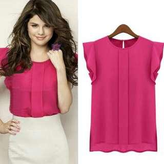 🔖Adhoc- Chiffon Pink Blouse