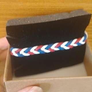 <現貨免運>紅藍黑素版手鏈