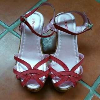 Poney Kids' Red Platform Shoes