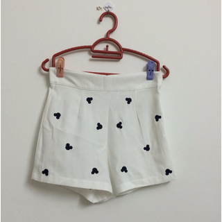 Mickey Mouse prints White Shorts