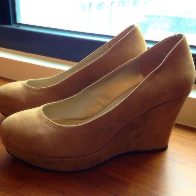 麂皮楔型鞋(24.5=39)