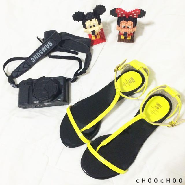 螢光黃色系涼鞋🌼
