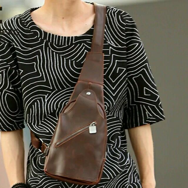 韓版復古胸包