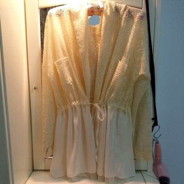 摟空透膚外套 罩衫 防曬外套