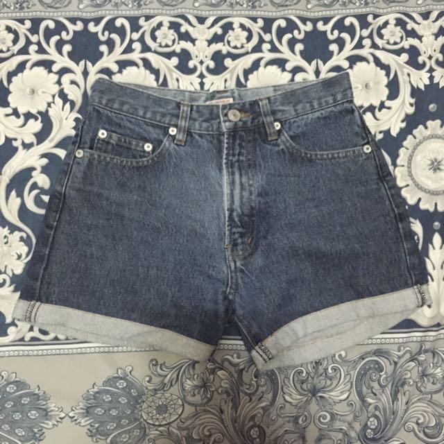 Brand New Denim Mid Waist Shorts