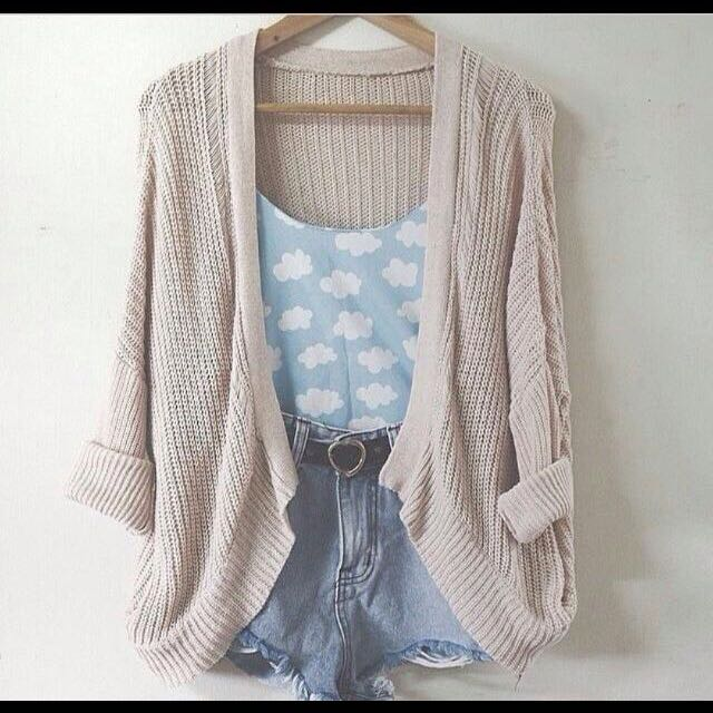 (Looking For) Cream Knitted Cardigan
