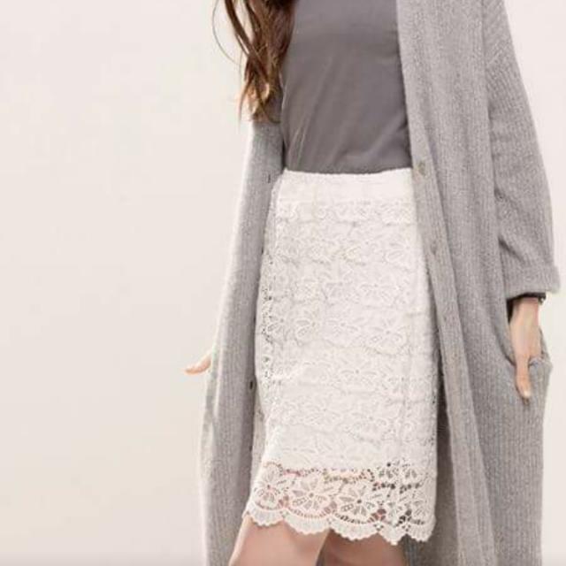 Meier.q 優雅氣質蕾絲裙(春夏白色款)