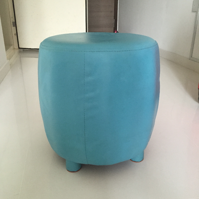 Round Stool Ottoman for Guest Seat Sofa