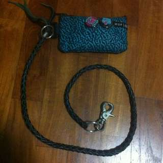 Leather Wallet/pouch Chain.