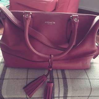 Authentic Coach Red Leather Bag From USA
