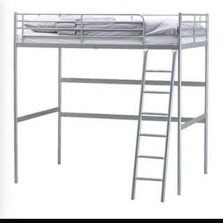 Ikea Metal Loft Bed For Sale.(reserved)