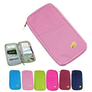 Durable Waterproof Nylon Travel Document Wallet Ticket Card Cash Passport Holder Pouch Free shipping
