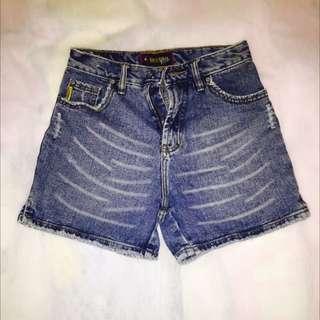 美式斑紋牛仔短褲