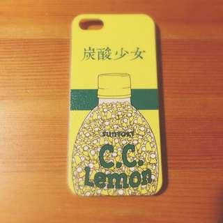 iPhone  5 / 5s ( i5 / 5s )  手機殼 碳酸少女 Suntory c c Lemon