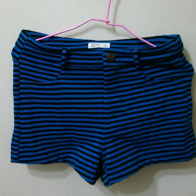 寶藍條紋短褲