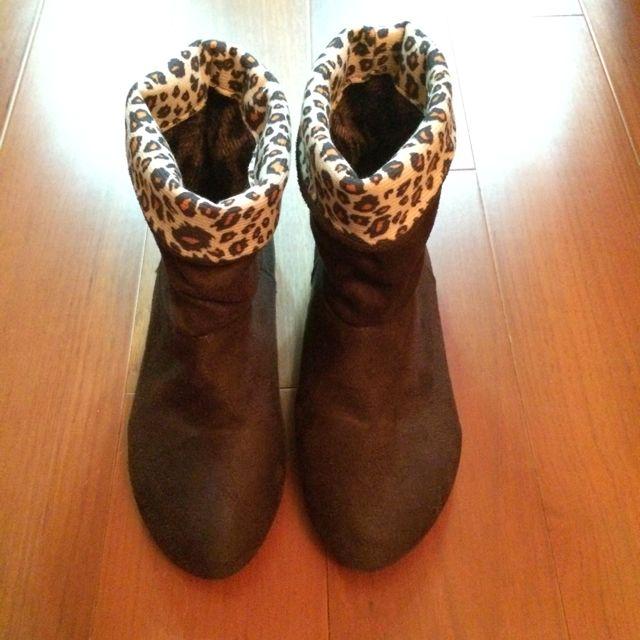 (超便宜賣!)豹紋踝靴